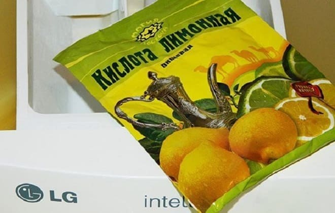 Количество лимонной кислоты для чистки стиралки