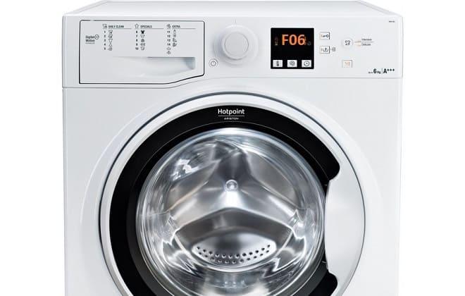 Ошибка F06 на экране стиральной машины Hotpoint-Ariston