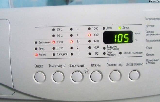 Полный цикл стирки в стиралке автомат