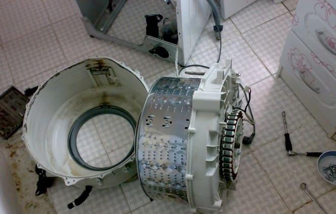 Разобранный барабан стиралки