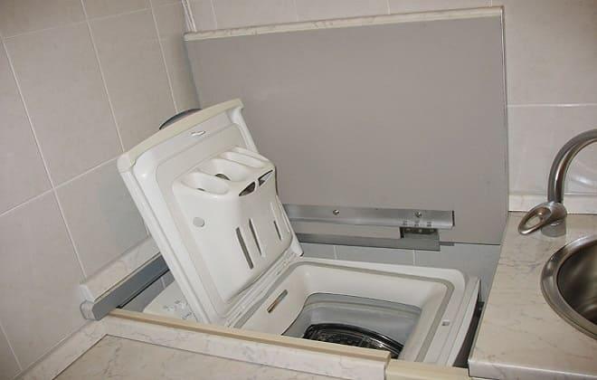 Встраивание стиралки автомат с вертикальной загрузкой