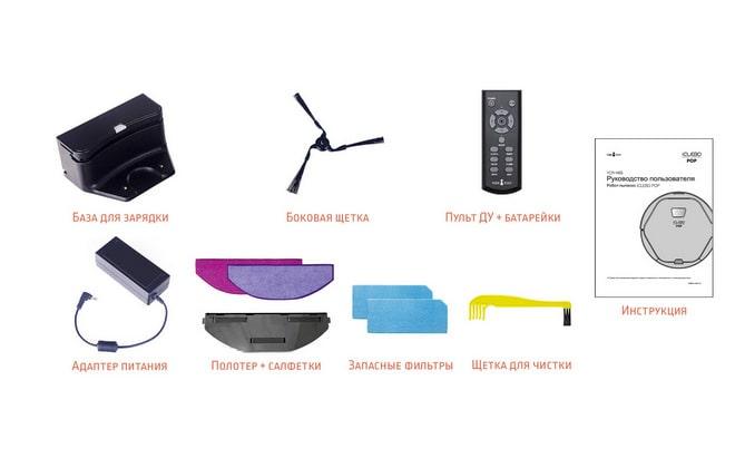 Комплектация оборудования iClebo