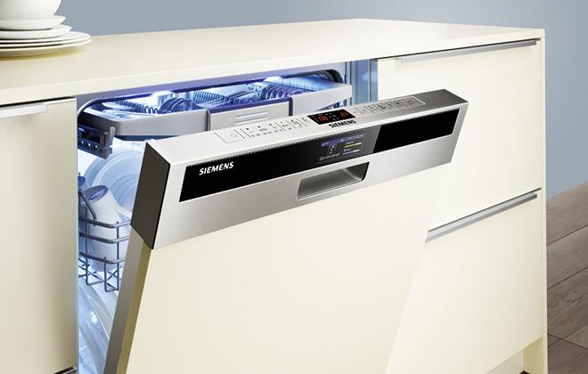 Белая посудомойка Siemens