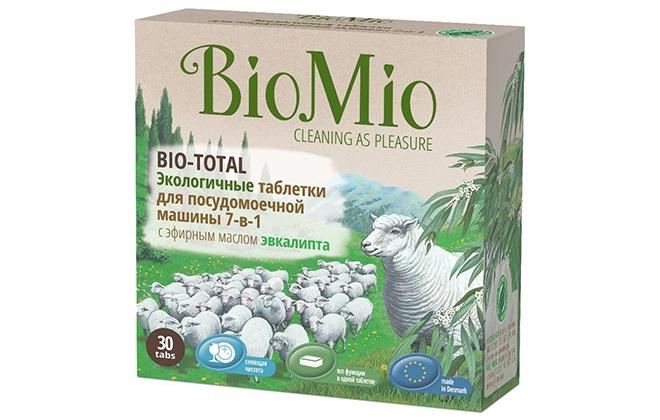 Экологичные таблетки для посудомойки Biomio 7 в 1