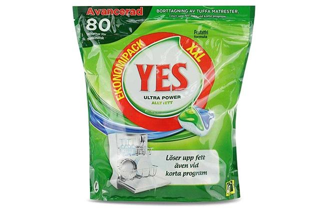 Капсулы в зеленой упаковка Yes