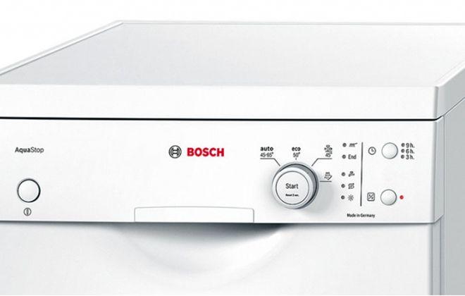 Панель управления посудомойкой Бош
