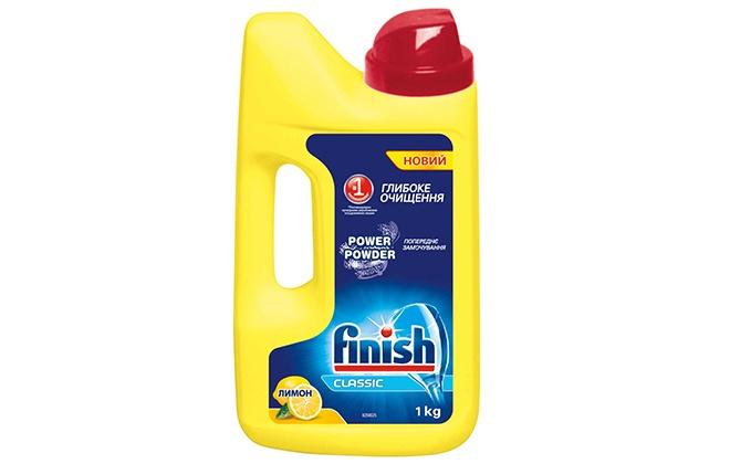 Порошок Finish в желтой упаковке
