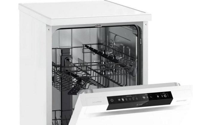 Посудомоечная машина внутри