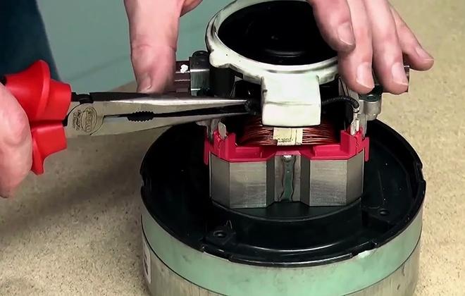 Ремонт мотора пылесоса