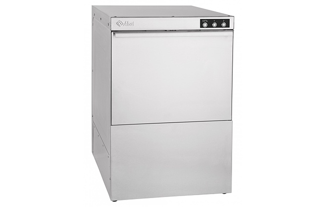 Серебристая посудомойка Abat МПК-500Ф-01