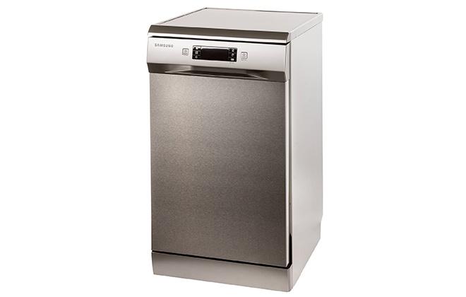 Серебристая посудомойка Samsung DW50H4030FS