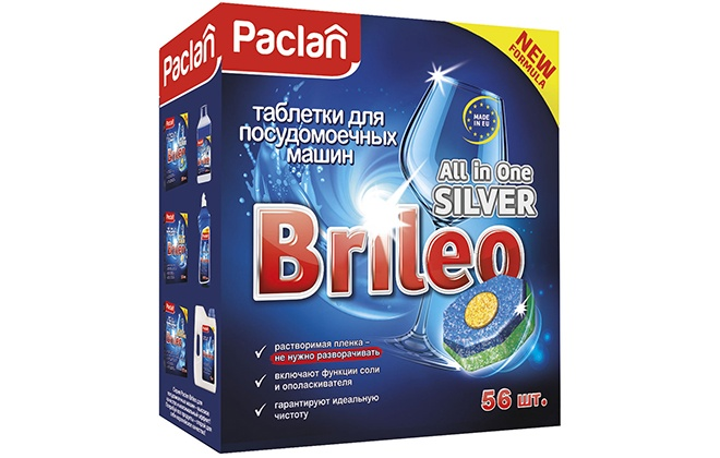 Синяя упаковка с капсулами Paclan Brileo All in One Exclusive