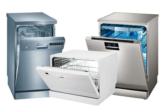 Три посудомоечные машины разного размера