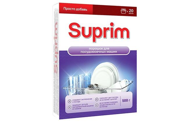 Упаковка порошка Suprim для посудомоек