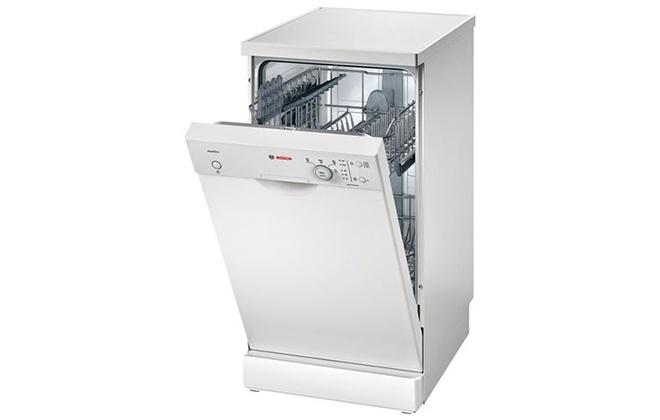 Узкая белая посудомоечная машина Bosch