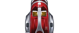 Верхняя панель пылесоса LG Kompressor