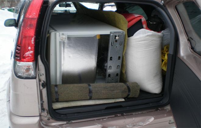 Бытовая техника в машине