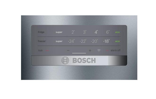 Часы на холодильнике от Бош
