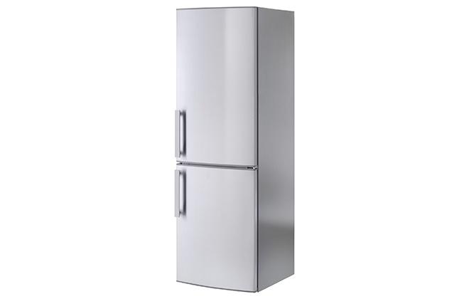Двухкамерный холодильник серого цвета