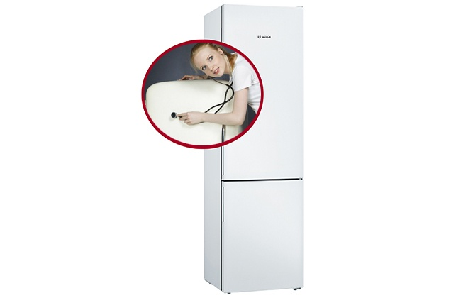 Холодильник с нижней морозильной камерой Bosch KGV39VW316