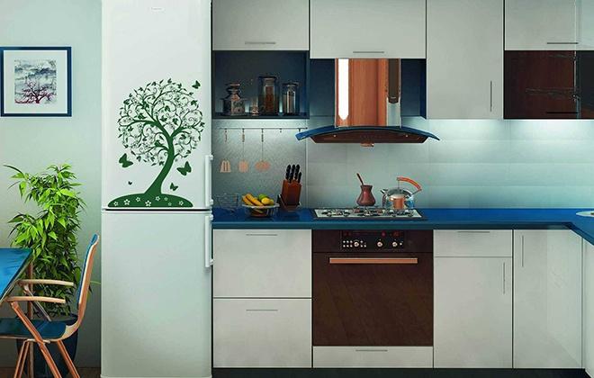 Холодильник с рисунком