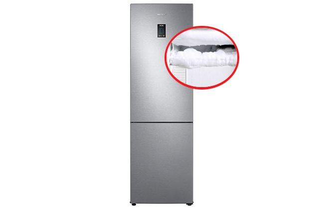 Лед в морозильной камере холодильника Samsung
