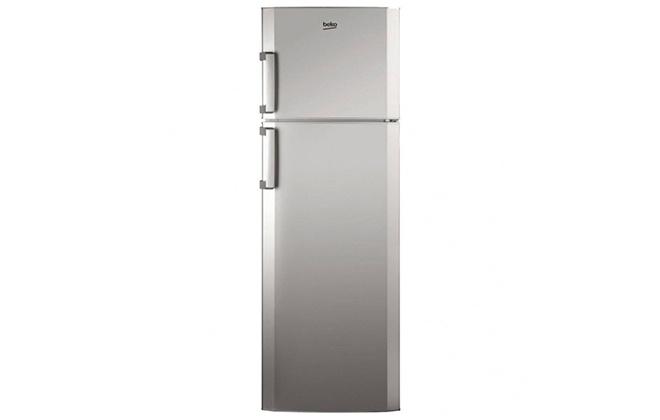 Серебристый холодильник Beko RCSA 330