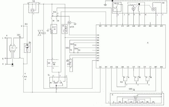 Схема электроники