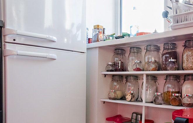 Удобное место для хранения на кухне