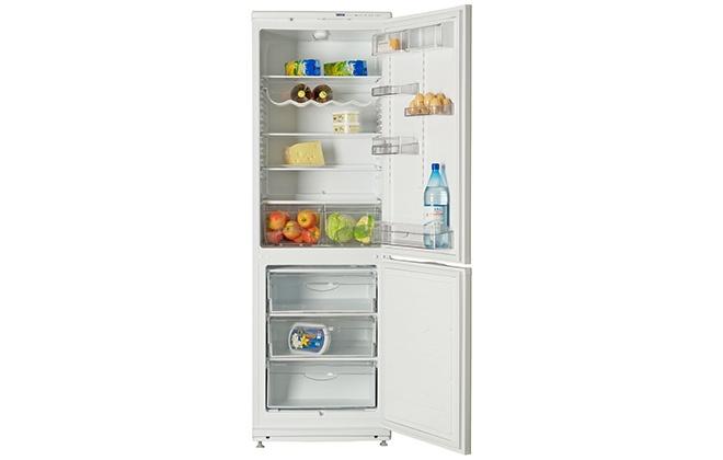 Холодильник Атлант 6021-031 с продуктами