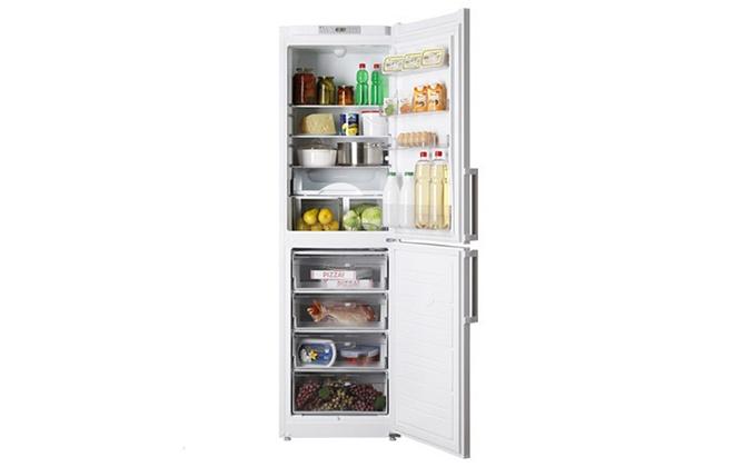 Холодильник Атлант 6325-101 с продуктами