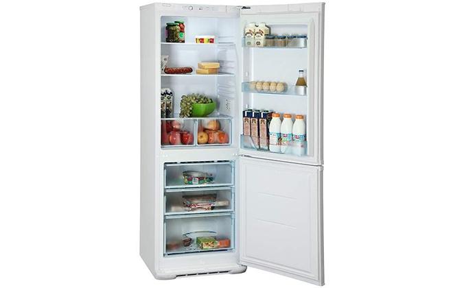 Холодильник Бирюса 133 с продуктами