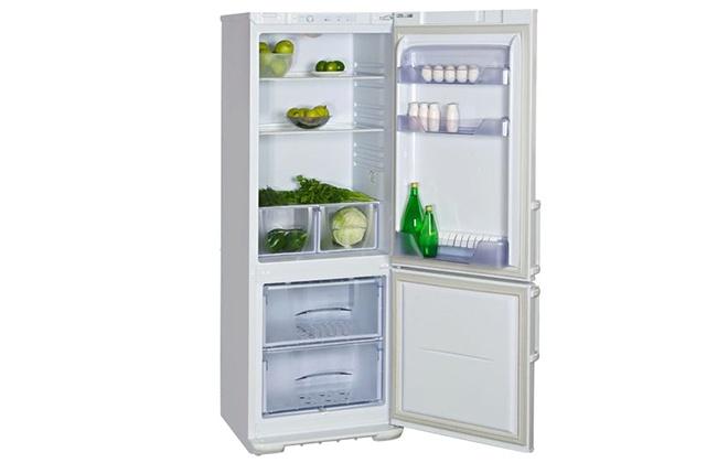 Холодильник Бирюса 134 с продуктами