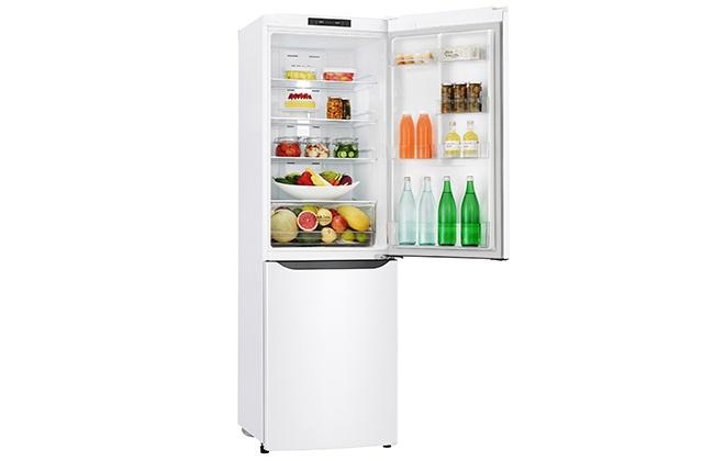 Холодильник LG GA-B419SQJL с открытой верхней дверцей