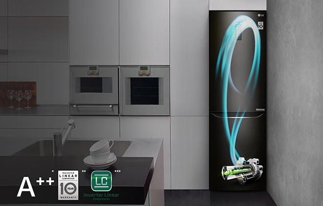 Холодильник LG GA-B429SBQZ на кухне