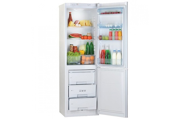 Холодильник Pozis RK-149 с продуктами
