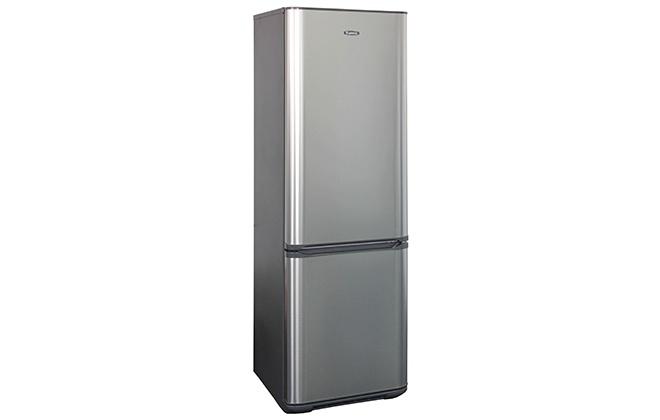 Серебристый холодильник Бирюса 127