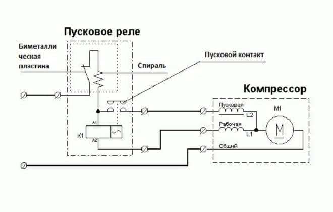 Схема подключения компрессора к холодильнику