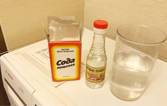 Чистка стиралки уксусом и содой