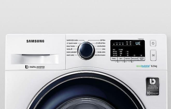 Ошибка UE на табло стиральной машины Samsung