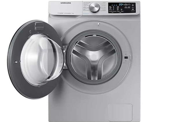 Серая стиральная машинка Samsung
