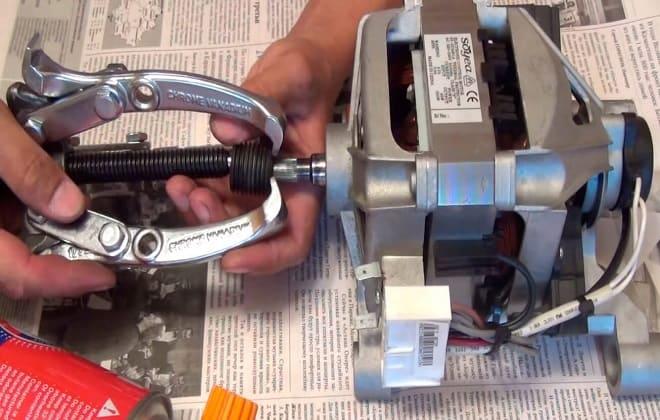 Снятие шкива с двигателя