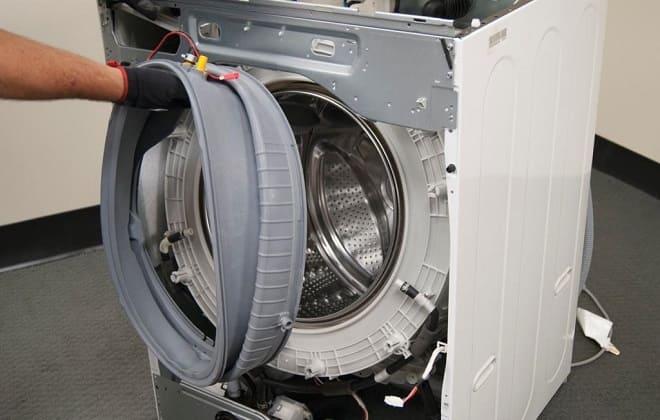 Как снять резинку с барабана стиралки автомат