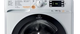 На экране стиральной машины Индезит ошибка F01