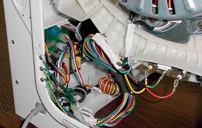 Нарушение электропроводки в стиралке Индезит