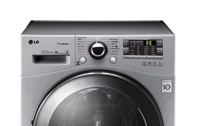 Ошибка FE на экране стиральной машины LG