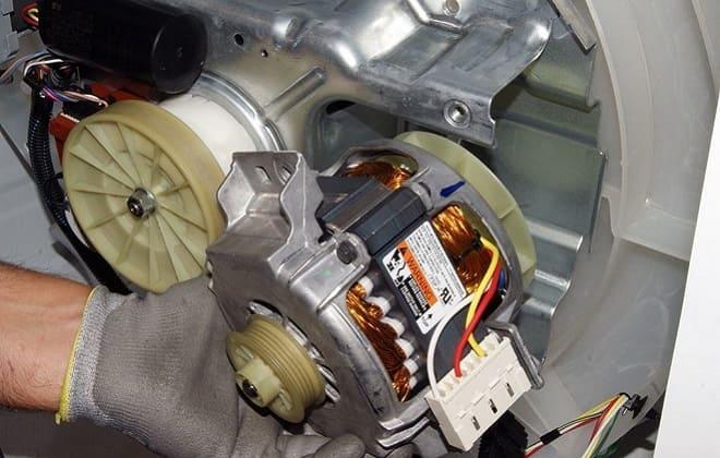 Сгоревший двигатель стиралки