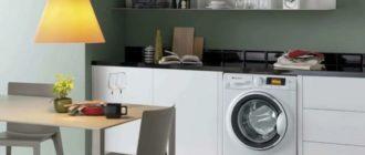 Стиральная машина автомат установлена на кухне